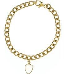 women's adornia curb chain moonstone bracelet