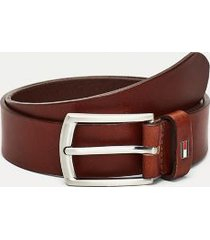 tommy hilfiger boy's th kids leather belt cognac - l-xl