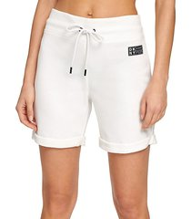 rolled cuff sweat shorts