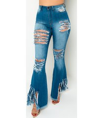akira it is up to me fringe flare jeans