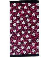 "juicy couture zebra beach towel, 36"" x 68"" bedding"