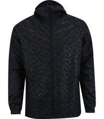 jaqueta com capuz oxer camuflada heat - masculina - preto