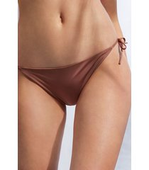 calzedonia brazilian string swimsuit bottom indonesia eco woman brown size 3