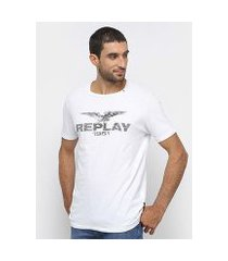camiseta replay 1981 básica masculina