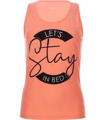 camiseta descanso let´s stay in bed color rosado, talla xxl