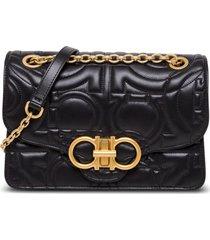 salvatore ferragamo gancino shoulder bag in quilted leather