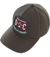 dsquared2 gabardine baseball cap
