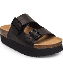 stb-cara platform l shoes summer shoes flat sandals svart shoe the bear