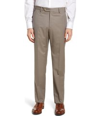 men's zanella devon flat front classic fit solid wool serge dress pants