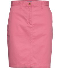 d1. classic chino skirt knälång kjol rosa gant