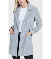 cardigan ash boucle doble faz gris - calce regular