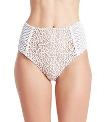 high-waisted lace bikini bottom