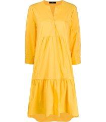 steffen schraut oversized flared shirt dress - yellow