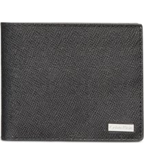 calvin klein men's saffiano leather slim wallet