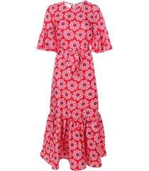 la doublej curly swing patterned dress - red