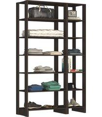 guarda roupa closet 2 peças 12 nichos ye