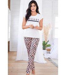 pijama mujer conjunto pantalón manga corta 11524