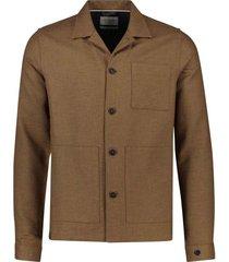 cast iron overhemd bruin