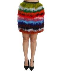 high waist mini feather rok