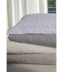 colcha com porta travesseiro trapuntada safira branca - scavone - branco - dafiti