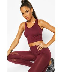 fit rib and laser cut seam free tank top, wine