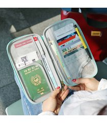donna uomo nylon borsa da passaporto casual da viaggio con passaporto borsa clutch