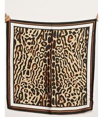pañuelo marrón nuevas historias animal print