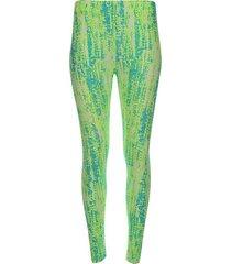 legging deportivo estampado tono verde color verde, talla xs