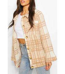 oversized flannel brushed wool jacket, camel