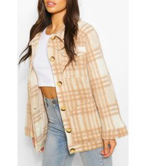 oversized flannel brushed wool jacket, camel