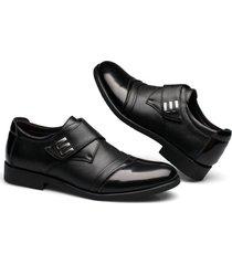 hombres zapatos oxford de cuero zapatos de vestir clásicos