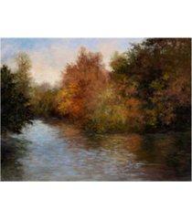 "mary jean weber a light on the lake canvas art - 37"" x 49"""
