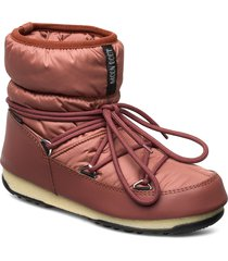 mb low nylon wp 2 shoes boots ankle boots ankle boots flat heel brun moon boot