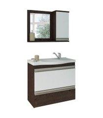 conjunto de banheiro grécia café e branco