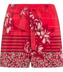short feminino com faixa lume - vermelho