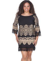 white mark women's plus size alta dress