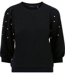 topp vmbeckie 3/4 oneck sweatshirt