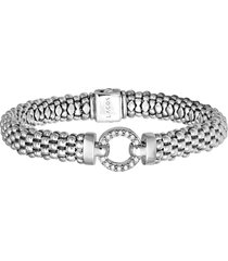 women's lagos 'enso - circle game' diamond caviar rope bracelet