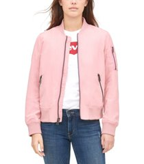 levi's women's zip-detail bomber jacket