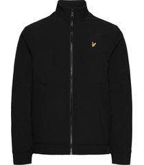 funnel neck softshell jacket dun jack zwart lyle & scott