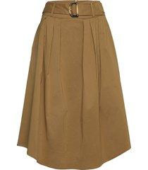 skirts light woven knälång kjol brun esprit collection