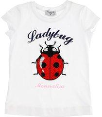 monnalisa ladybug cotton jersey t-shirt