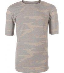 avior stevig zacht slim fit shirt army blue