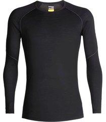 camiseta m/l crewe negro/mineral icebreaker