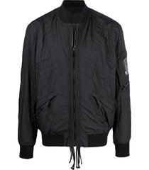 diesel stitched bomber jacket - black