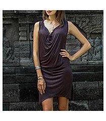 rayon dress, 'brown ripple effect' (indonesia)