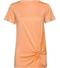 knot tee t-shirts & tops short-sleeved orange röhnisch