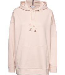 cindy relaxed hoodie ls hoodie trui roze tommy hilfiger