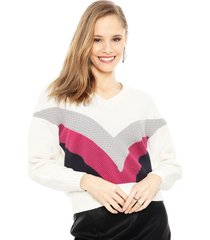 sweater vero moda oceane crudo - calce holgado