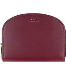 a.p.c. small leather flap-over wallet